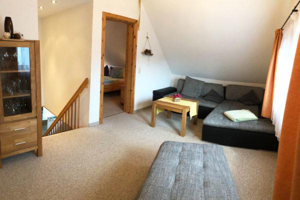 Ferienhaus Wohnbereich mit Sofa