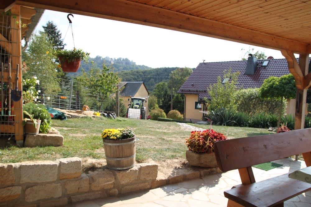 Ferienhaus mit Freisitz und Blick zur Festung